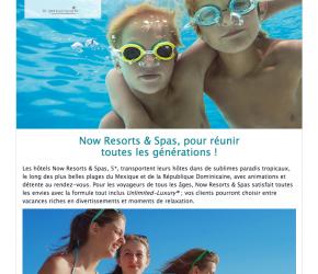 Now Resorts & Spas, pour réunir toutes les générations !